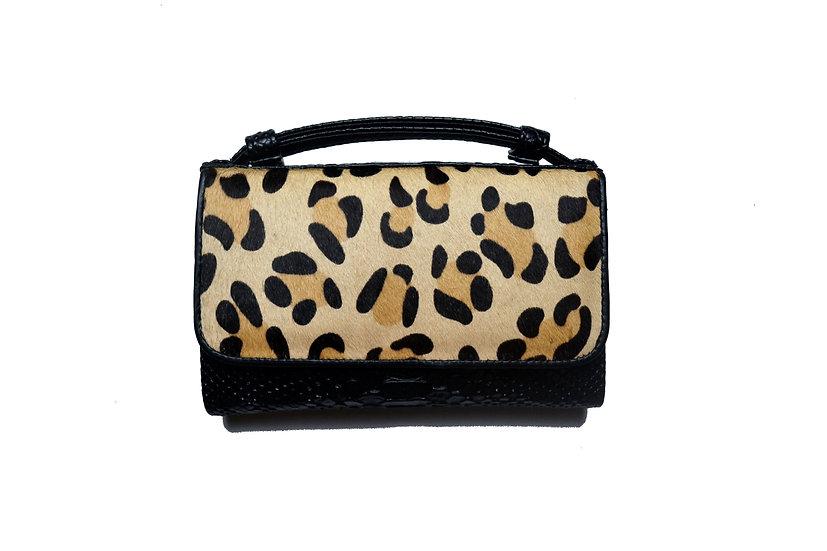 Wallet, Small handbag and cross body bag, Leopard