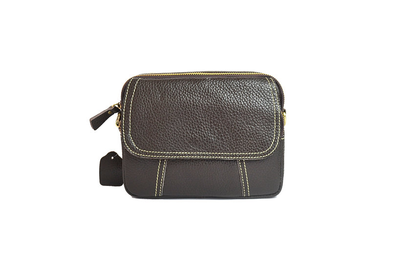 leather cross body bag slim leather bag