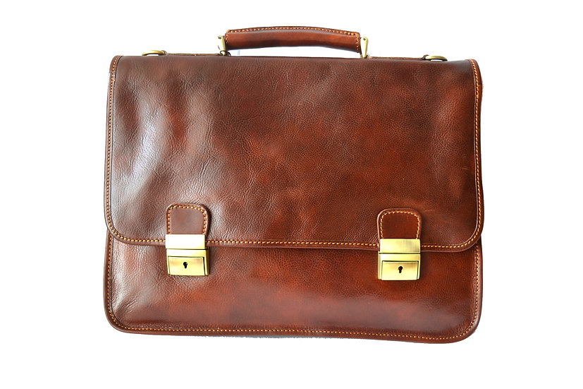 GENUINE LEATHER MAN BAG MADE IN ITALY