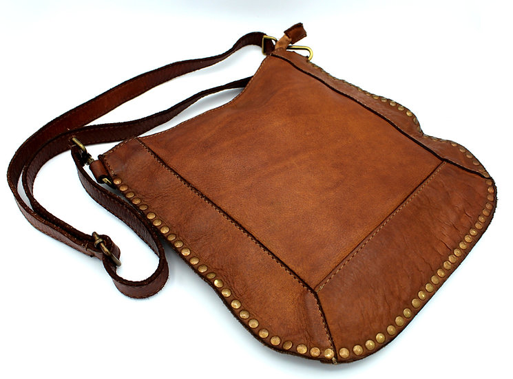 Soft Leather Crossbody bag Made in Italy