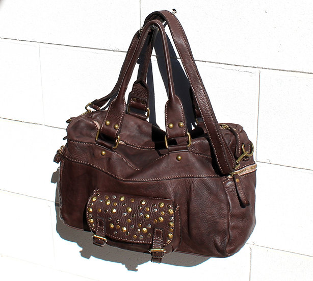 Leather bag for Women soft leather bag with studs