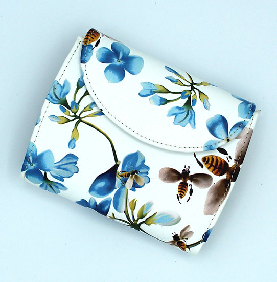 Florence leather wallet with coin pocket Flower