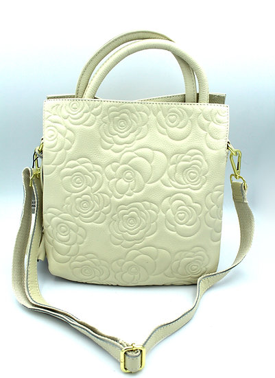 Genuine Leather Handbag Hot Rose Panna