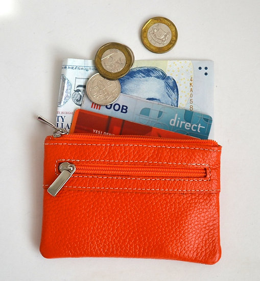 Genuine Leather Coin Card Holder Key Purse
