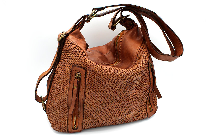 Genuine Leather bag women shoulder bag and backpack Piazza Duomo