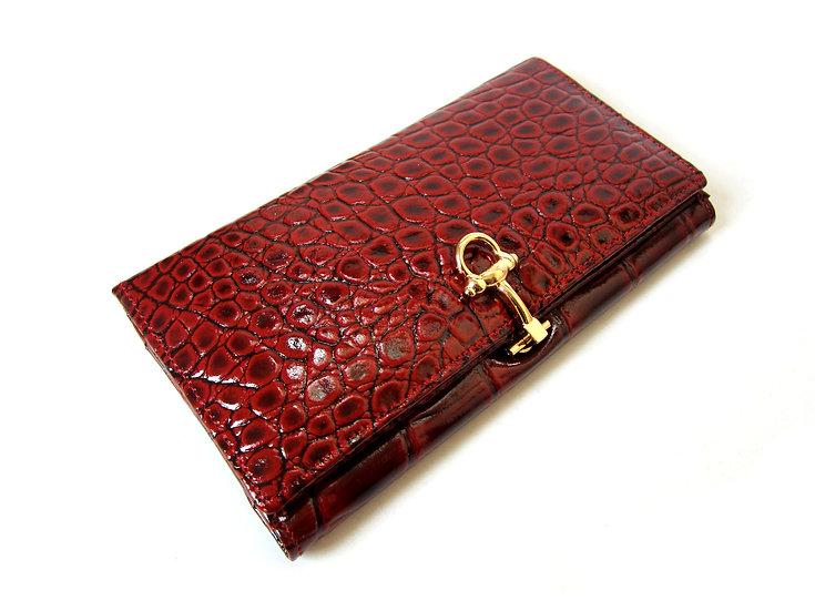 Amica Leather women wallet crocodile