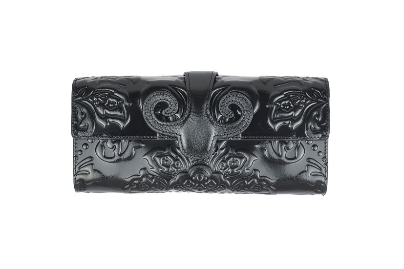 Vera Pelle Cow Leather Wallet Black