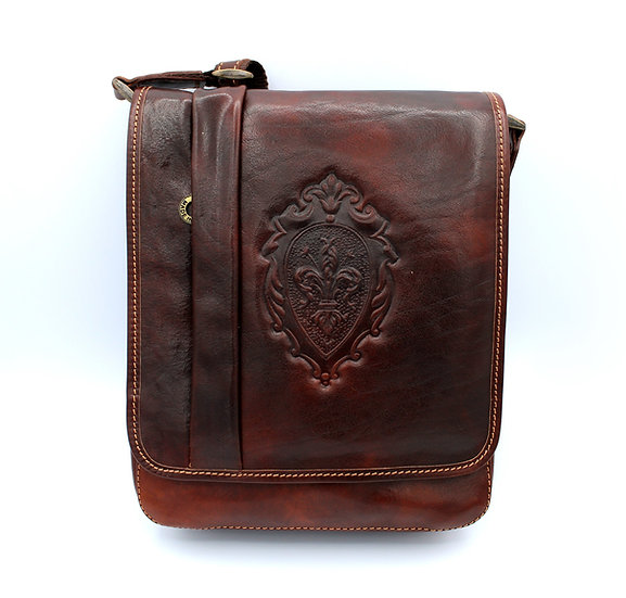 unisex sling bag cowhide leather made in Italy