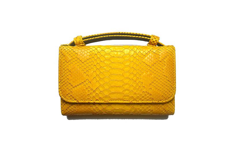 Wallet, Small handbag and cross body bag, Yellow Gold