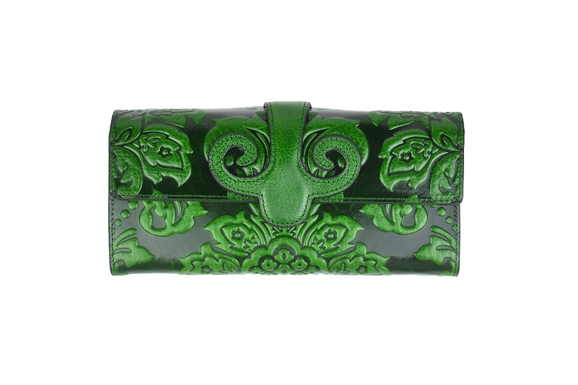 Vera Pelle Cow Leather Wallet Green