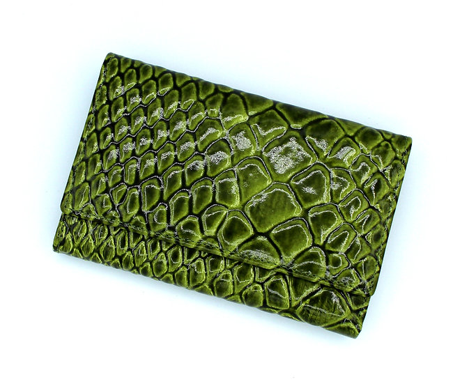 Leather wallet Crocodile made in Italy