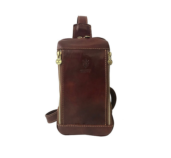 Leather band bag trendy bag cross body bag made in Italy Florence