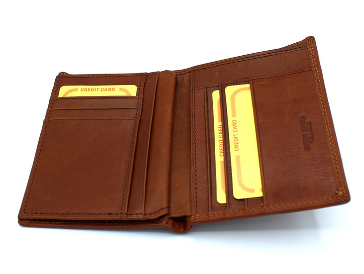 Man Leather wallet soft leather by Daniela Moda Italy