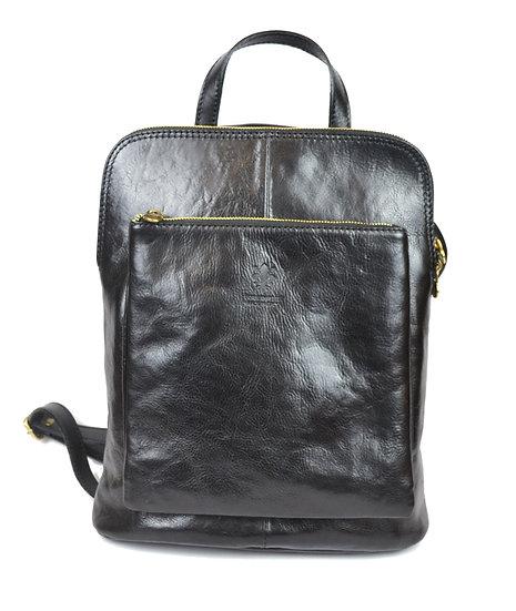 Genuine Leather Backpack Black