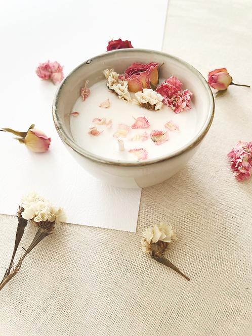 EDITION LIMITEE - Bougie artisanale fleurs séchées