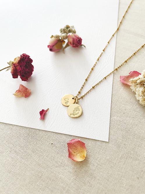 Collier Flora + médaillon 12mm
