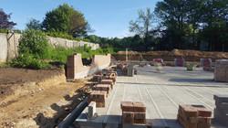 Funtington Development Foundations and brick work