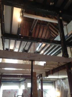 Artisan Cafe roof beams