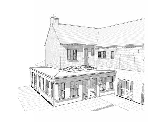 Nyton house 3D drawing Axis (conservator