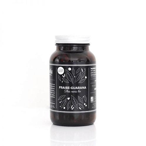 Thé noir Fraise - Guarana - bio