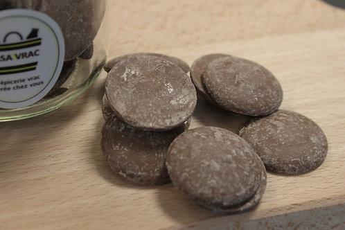 Palets de chocolat au lait bio