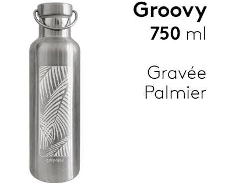 Gourde inox isotherme Groovy 750 ml - Palmier