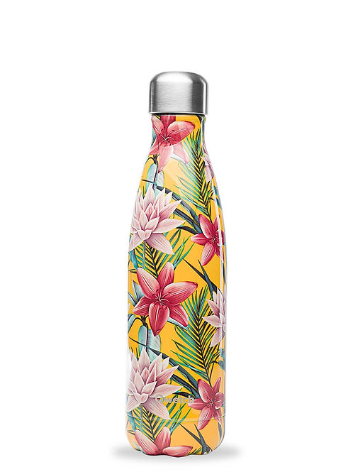 Bouteille isotherme en inox 500 ml TROPICAL Jaune - Qwetch