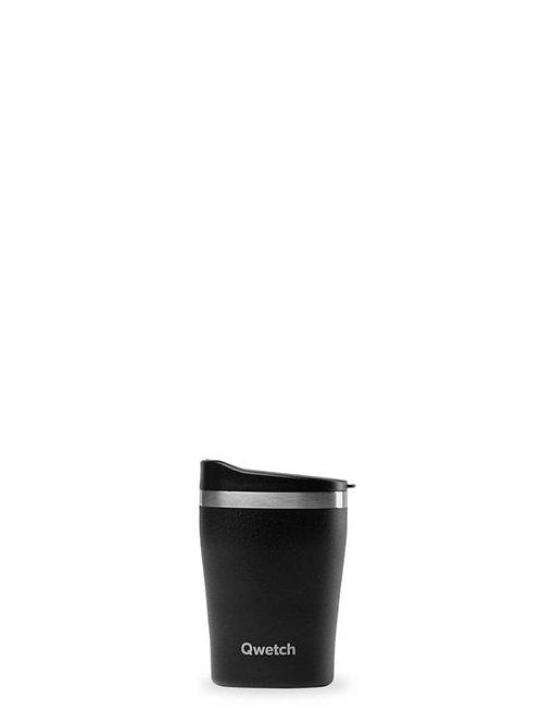 Mug isotherme en inox 240 ml ALL BLACK - Qwetch