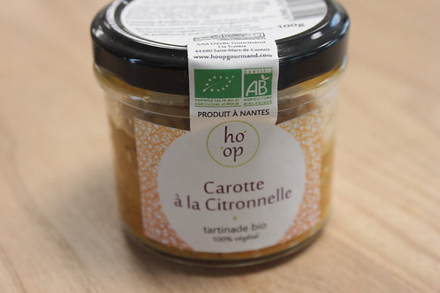 Tartinade Carotte à la citronnelle bio