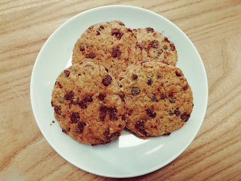 Cookies aux pépites de chocolat vegan et bio