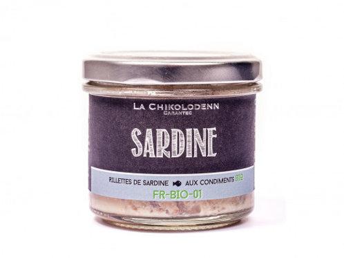 Rillettes de sardine aux condiments - bio