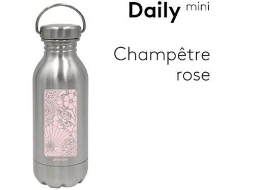 Gourde inox simple paroi Daily 330 ml - Champêtre rose