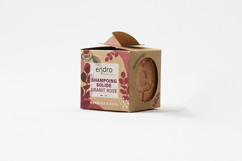 Shampoing solide granit rose - cheveux normaux à secs
