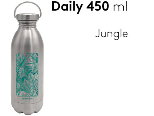 Gourde inox simple paroi Daily 450 ml - Jungle