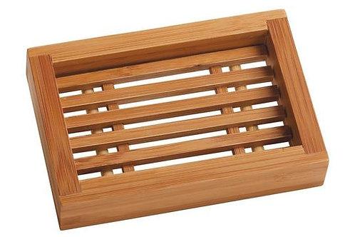 Porte savon rectangulaire en bambou