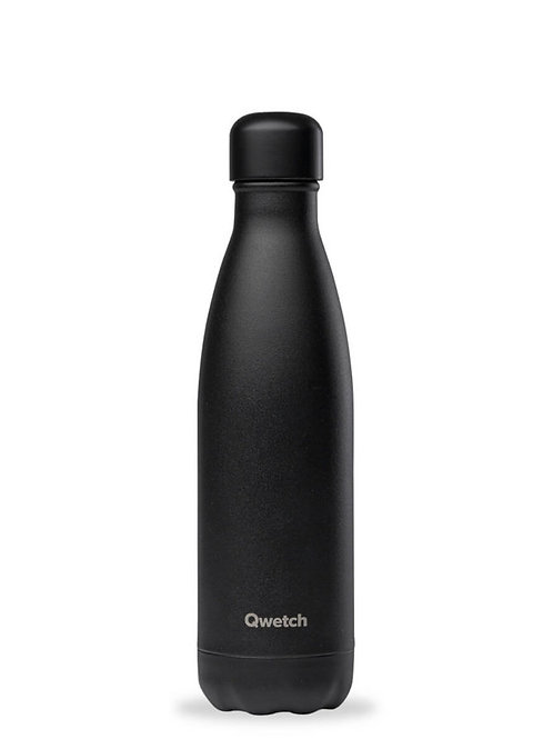 Bouteille isotherme en inox 500 ml ALL BLACK - Qwetch