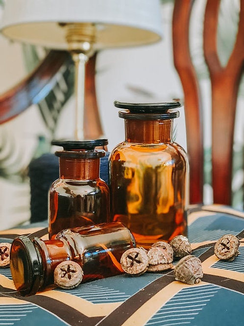 Flacon Apothicaire en verre ambré - 250ml