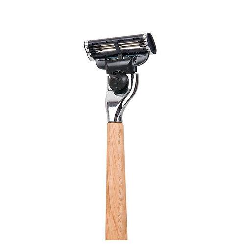 Rasoir à manche en bois