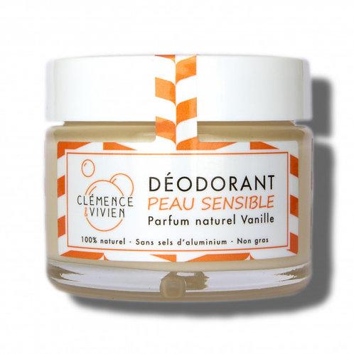 Déodorant crème - peau sensible à la vanille
