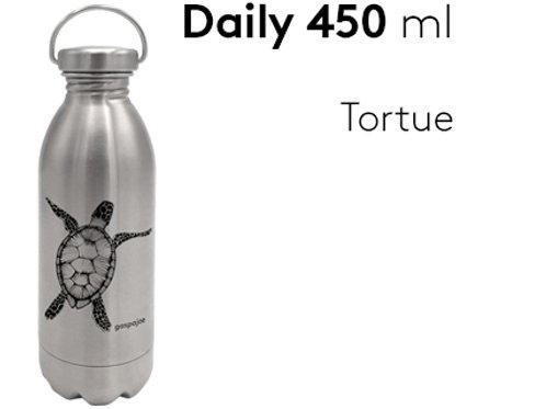 Gourde inox simple paroi Daily 450 ml - Tortue