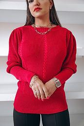Blusa tricô vermelho