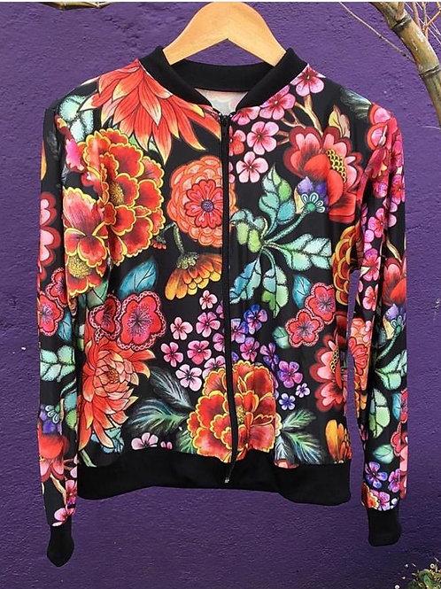 Jaqueta Bomber Flowers