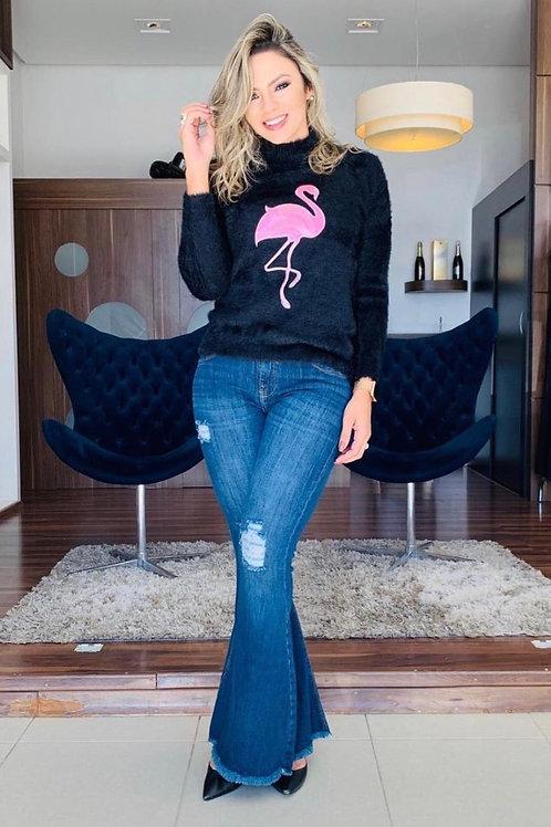 Blusa Push Flamingo