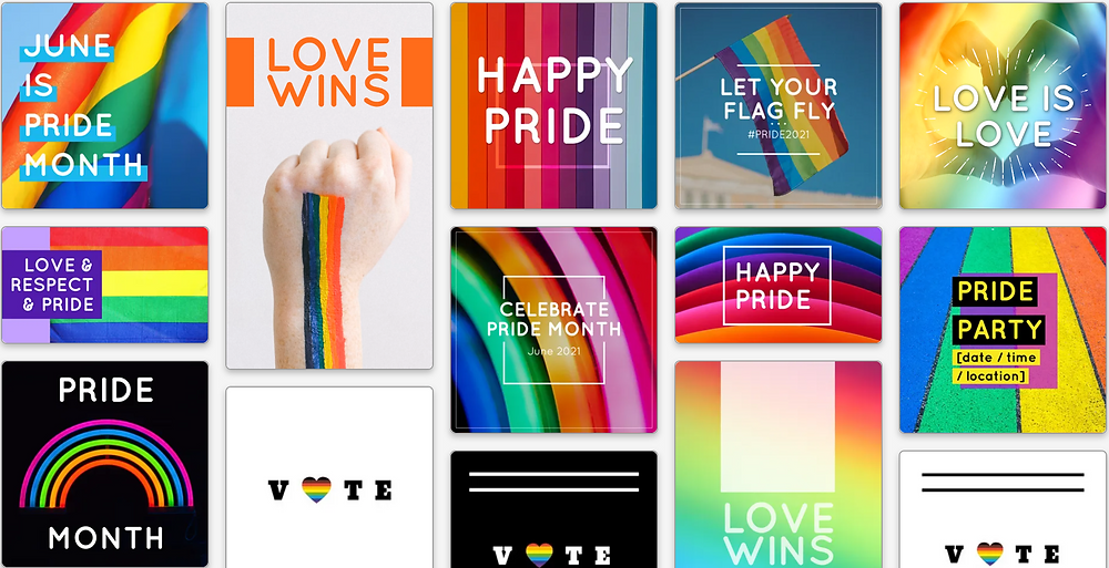 Pride social media templates