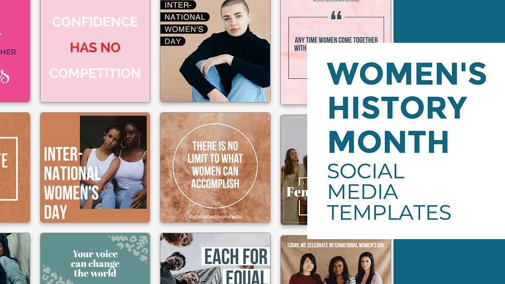 Social media templates to celebrate Women's History Month