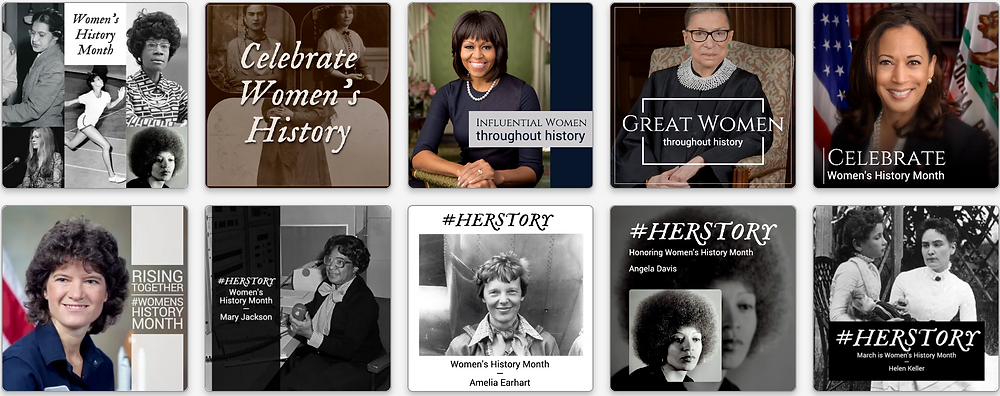 Women's History Month social media templates