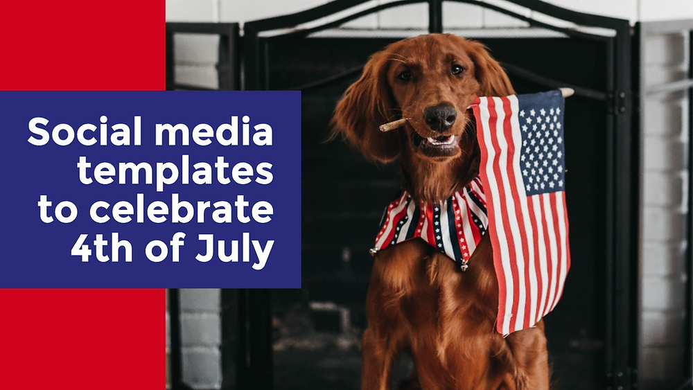 4th of July social media templates
