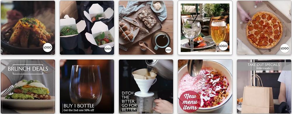 Restaurant Facebook and Instagram ad social media templates
