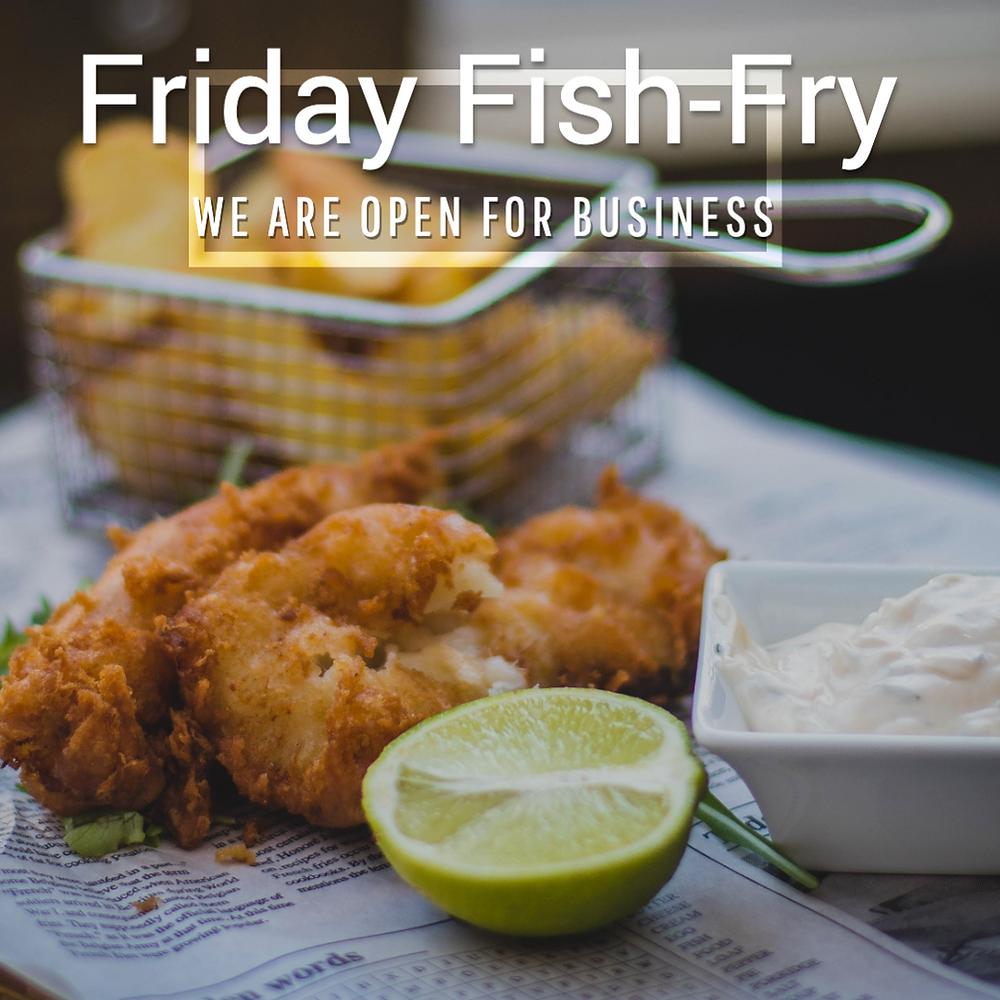 Friday fish fry social media post