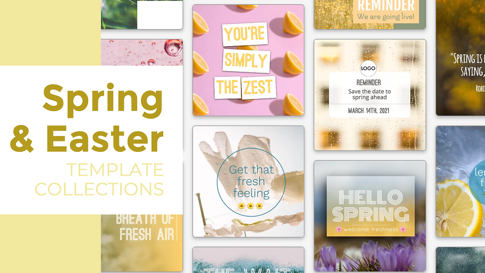 Spring and Easter social media templates